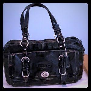 COACH Chelsea Leather Handbag in Black